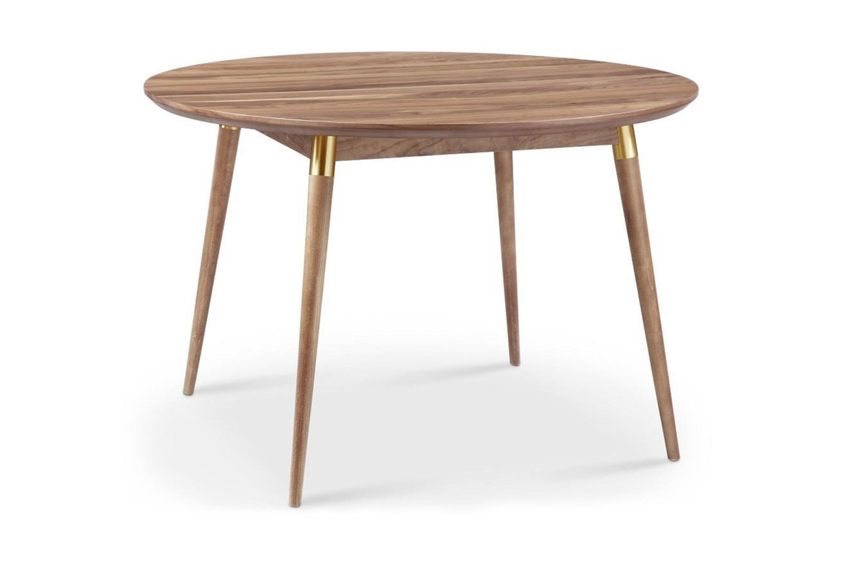 Round Dining Table Elegant Victory Walnut & Gold Round Dining Table Apt2b