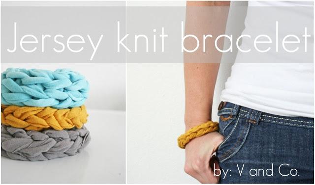 2.Jersey Knit Bracelet
