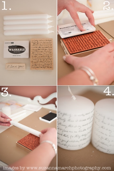 4.Printed Candles