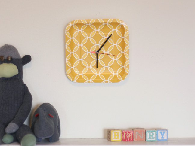 7.Paper Plate Clock