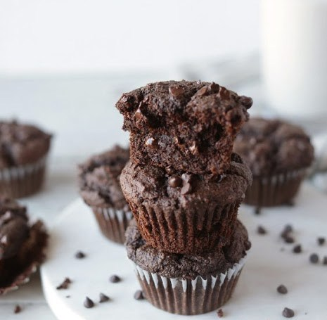 1-bowl Vegan Double Chocolate Muffins