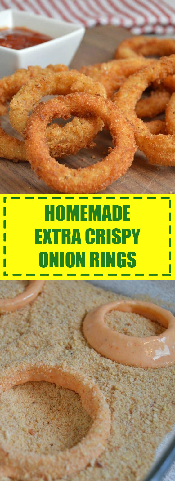 Extra Crispy Homemade Onion Rings From Scratch