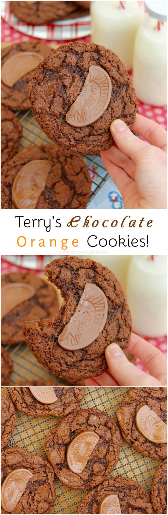 Terry's Chocolate Orange Cookies!  Delicious Moist & Crunchy Cookies full to…