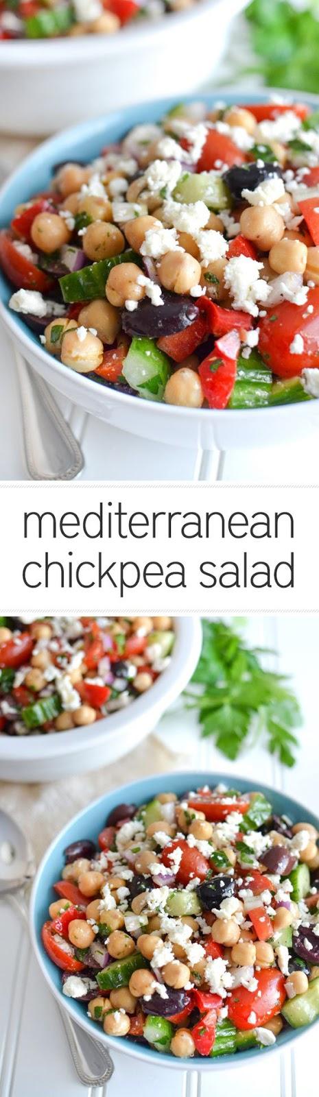 Dairy Free Mediterranean Chickpea Salad