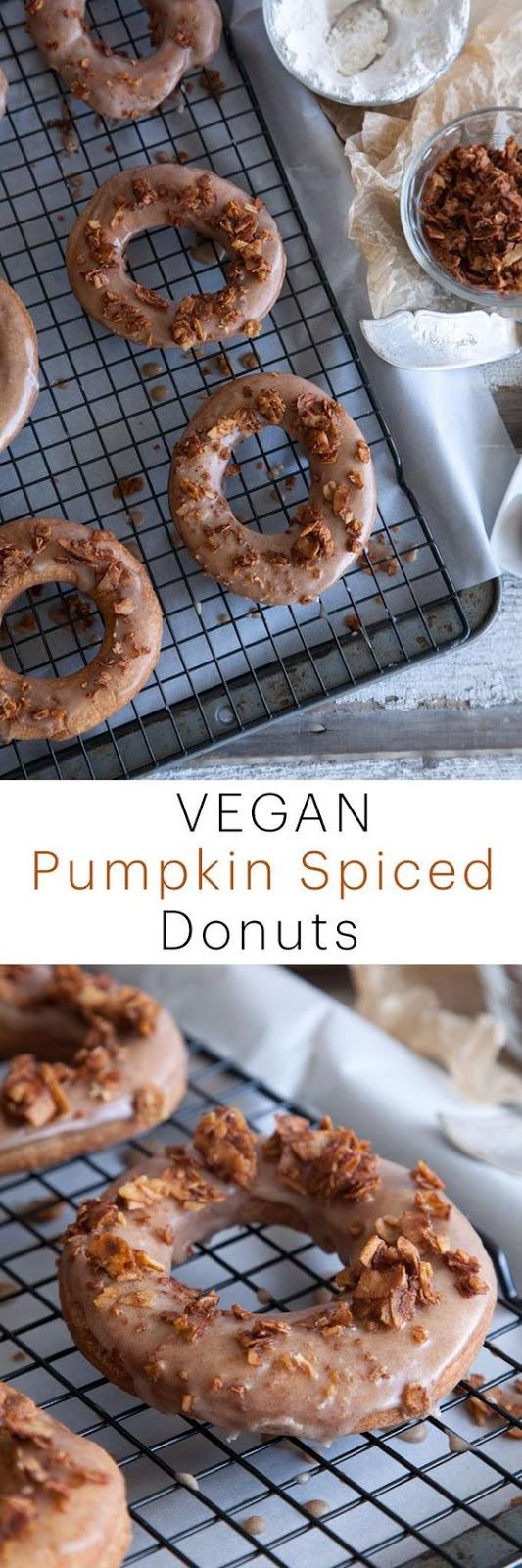 Vegan Pumpkin Spice Donuts Recipe