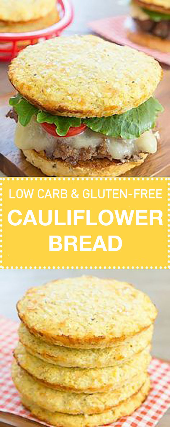 Low Carb & Gluten Free Cauliflower Bread Buns