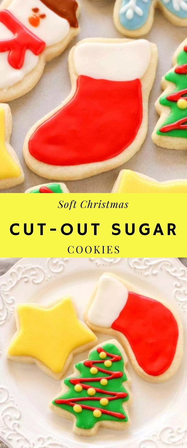 Soft Christmas Cut-Out Sugar Cookies