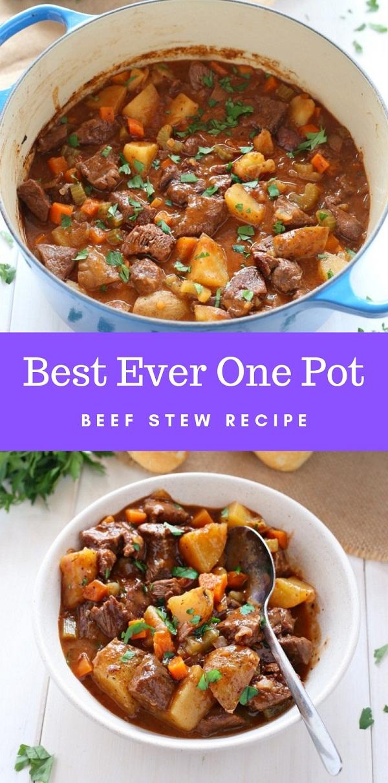 Best Ever One Pot Beef Stew Recipe