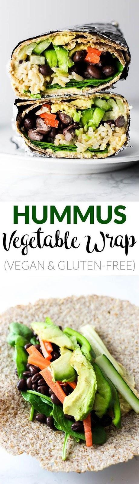 Hummus Vegetable Wrap