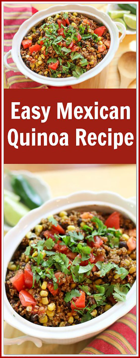 Easy Mexican Quinoa Recipe-One Pan Dish