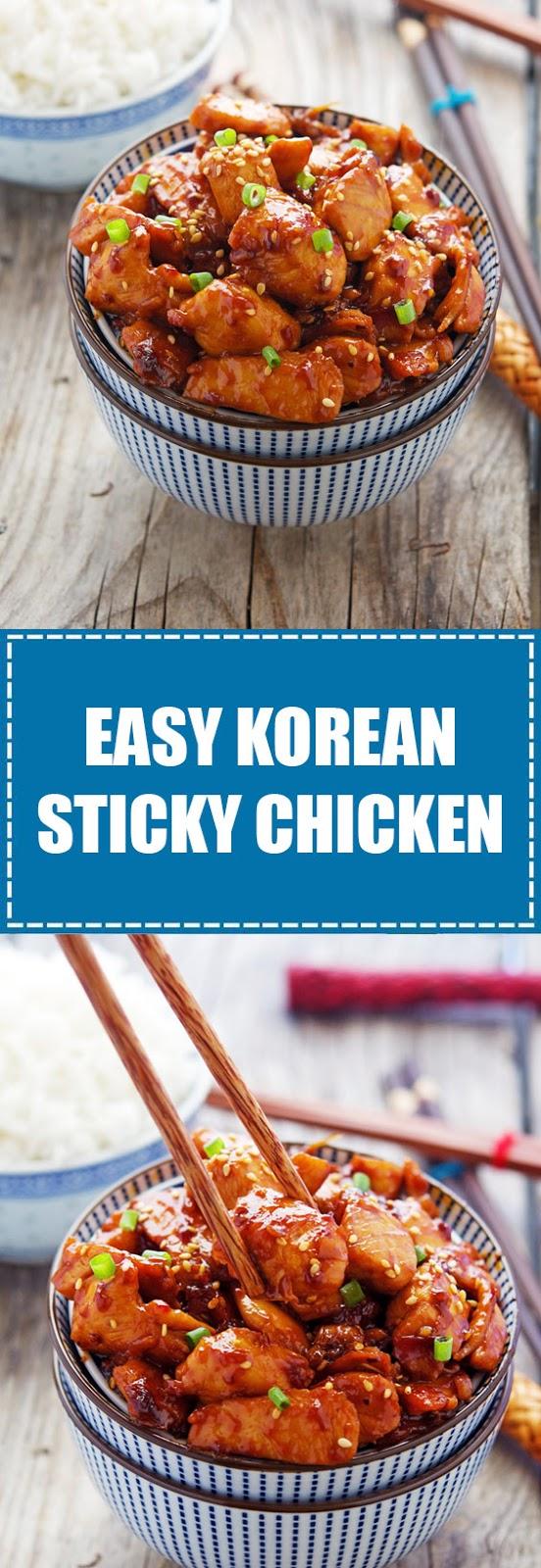 Easy Korean Sticky Chicken