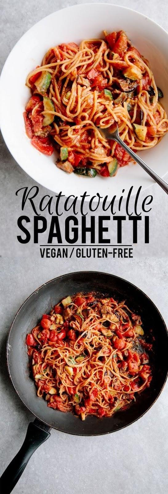 Ratatouille Spaghetti (Vegan + Gluten Free)