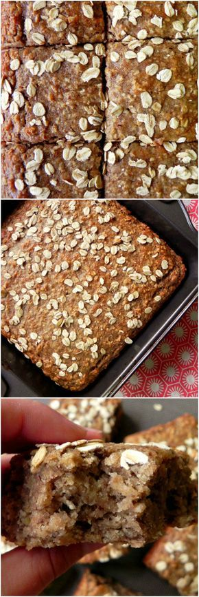 BANANA & OAT BREAKFAST CAKE HEALTHY VEGAN OATMEAL BANANA BREAD From Ceara's kitchen! YUM!!! Would be absolutely delicious and so moist!! healthier than typical banana bread too and easy to make!! #vegan #bananabread (comment by @paigeydoll1 )