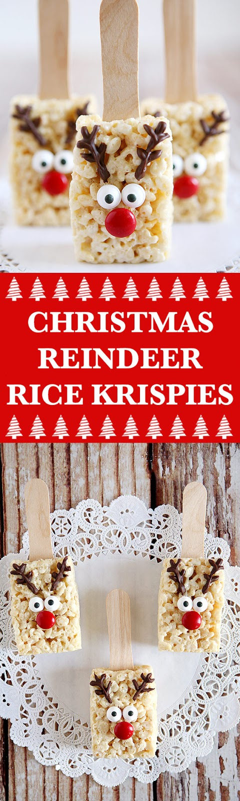 Christmas Reindeer Rice Krispies Treats