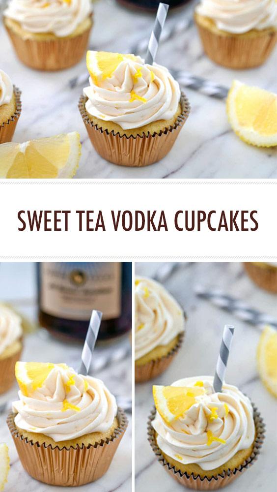 Sweet Tea Vodka Cupcakes