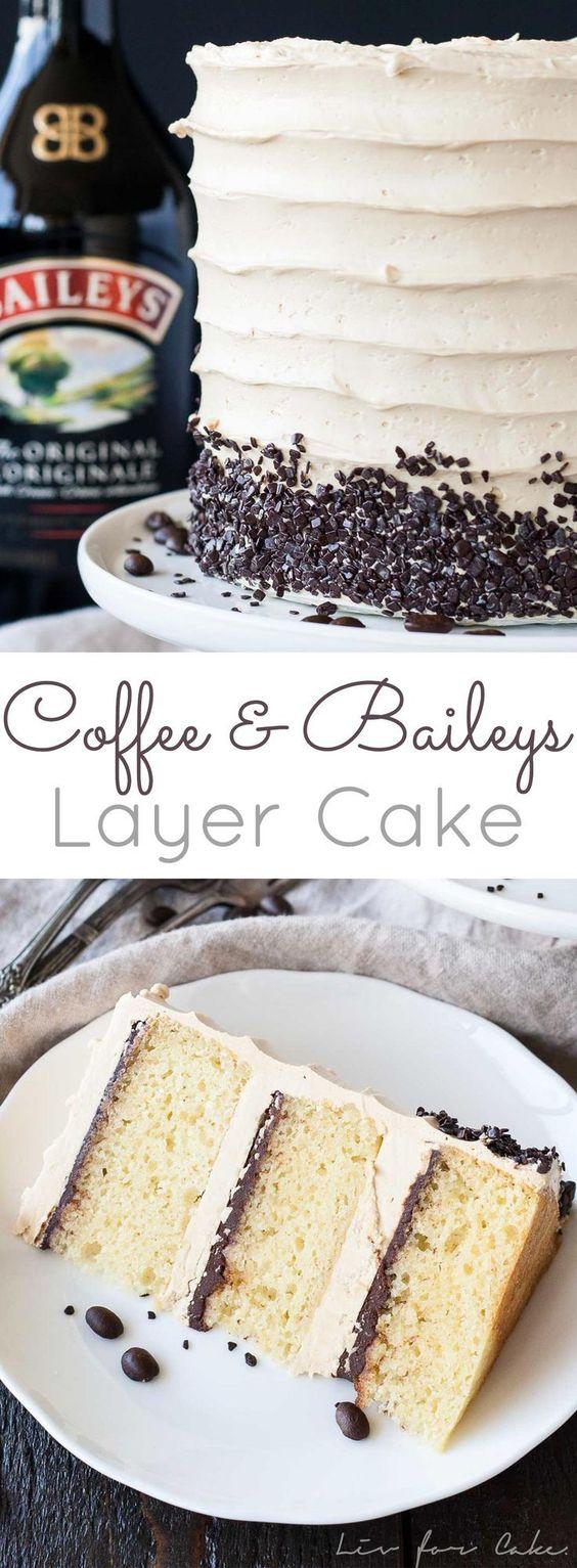 Coffee & Baileys Layer Cake