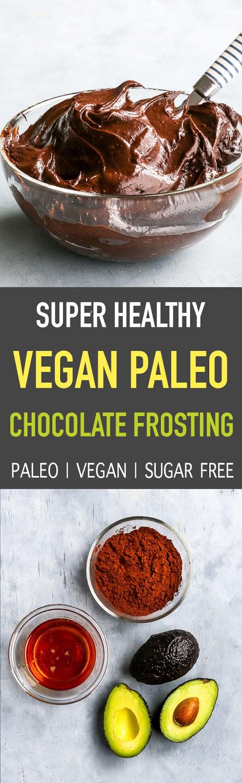 Super Healthy 3-Ingredient Paleo + Vegan Chocolate Frosting