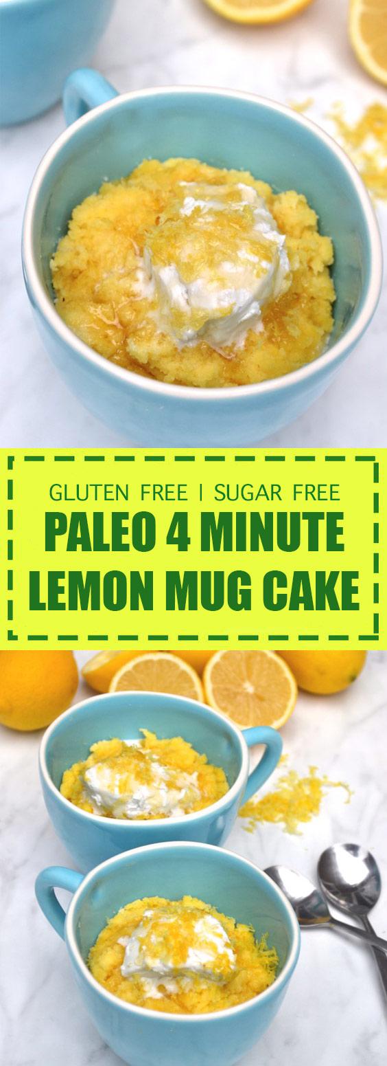 Paleo 4 Minute Lemon Mug Cake