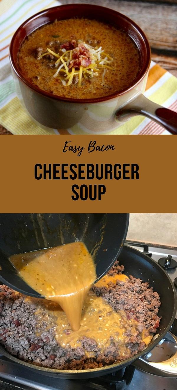 Easy Bacon Cheeseburger Soup