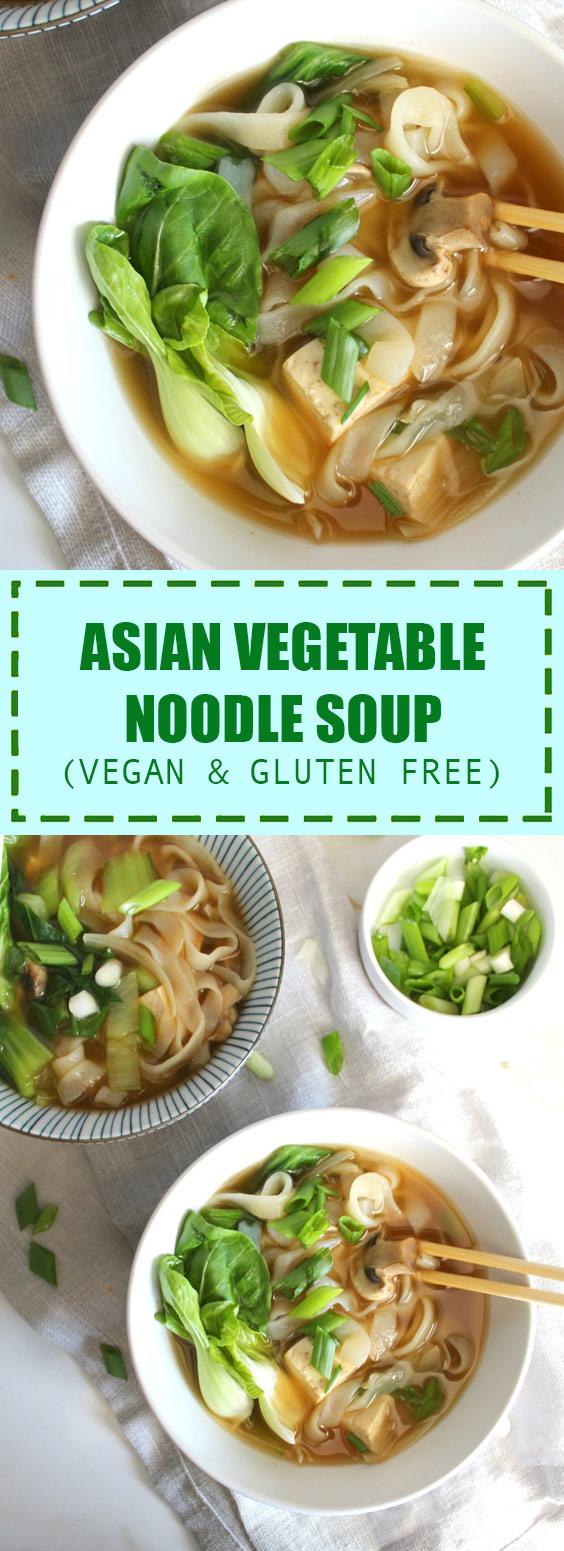 Asian Vegetable Noodle Soup