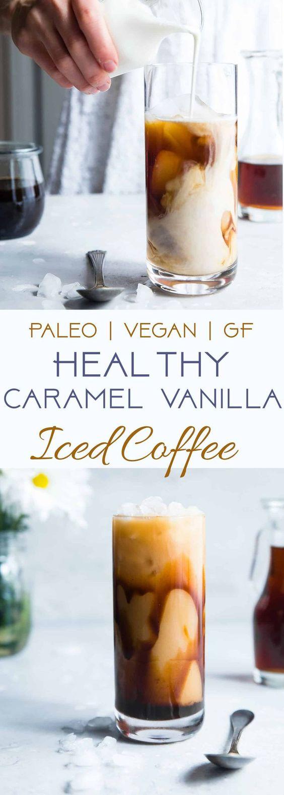 Homemade Caramel Vanilla Iced Coffee