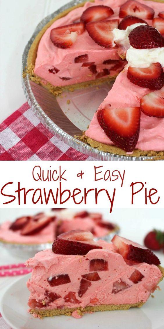 Quick & Easy Strawberry Pie Recipe