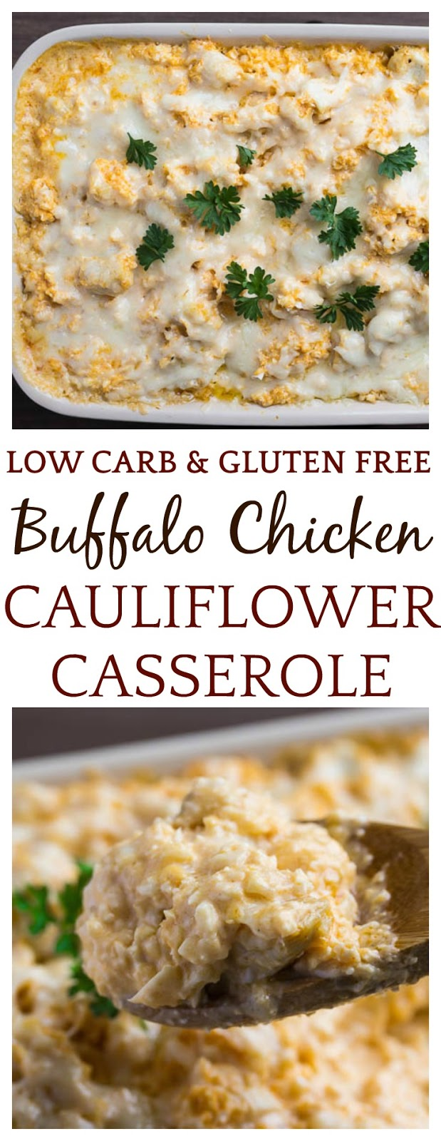 Creamy Buffalo Chicken Cauliflower Casserole