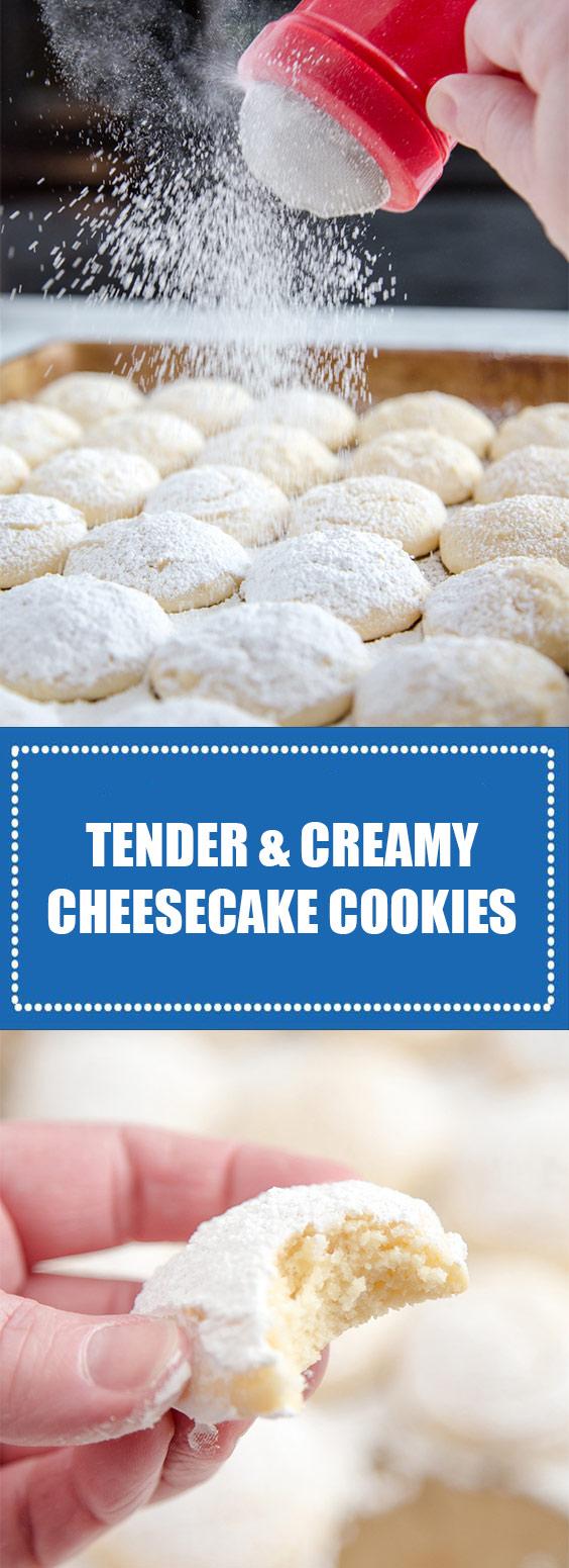 Tender & Creamy Cheesecake Cookies