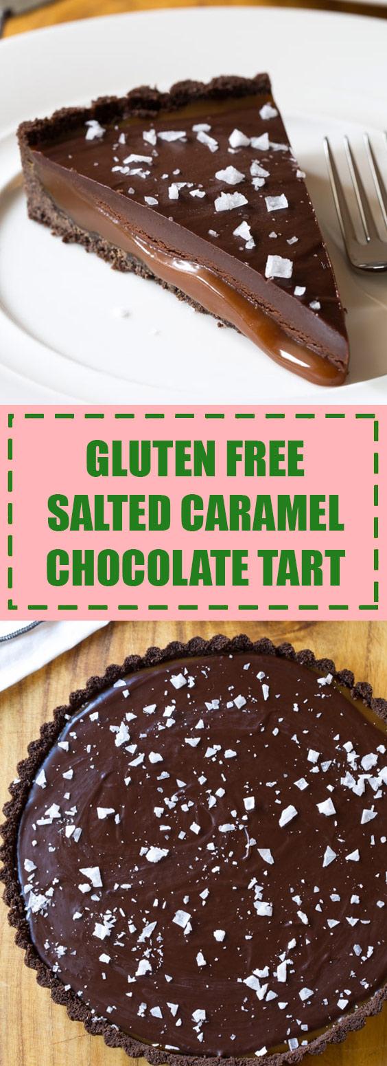 Gluten Free Salted Caramel Chocolate Tart