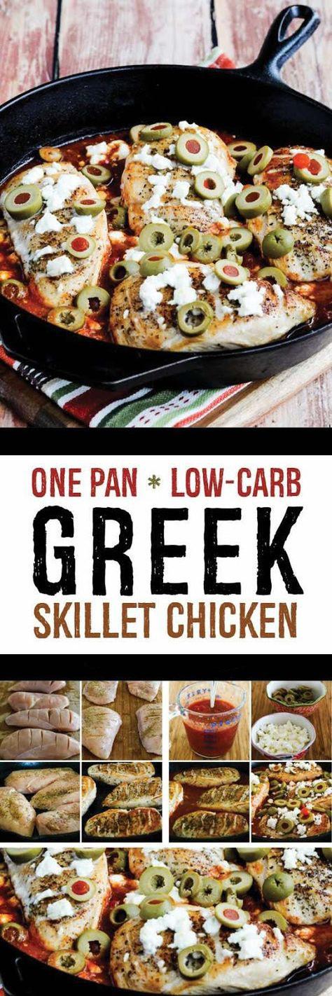 One Pan Low-Carb Greek Skillet Chicken