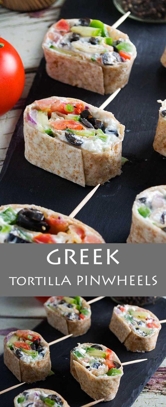 Greek Tortilla Pinwheels
