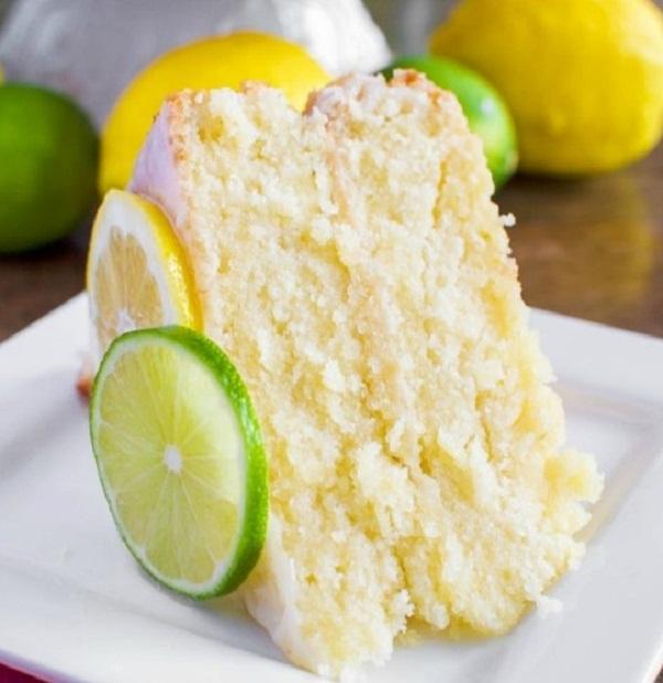 7 UP Cake from Scratch with Lemon Lime Glaze