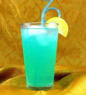 Blue Long Island Iced Tea drink recipe