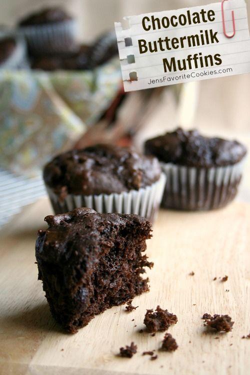 Chocolate Buttermilk Muffins