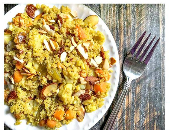 Curry Vegetable Quinoa Pilaf (Ready in 15 Minutes)