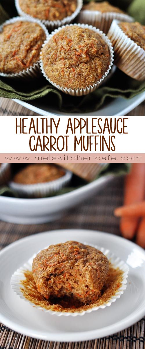 HEALTHY APPLESAUCE CARROT MUFFINS