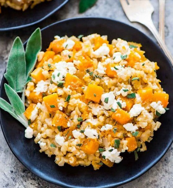 Healthy Slow Cooker Butternut Squash Risotto