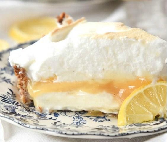 Lemon Curd Ice Cream Pie