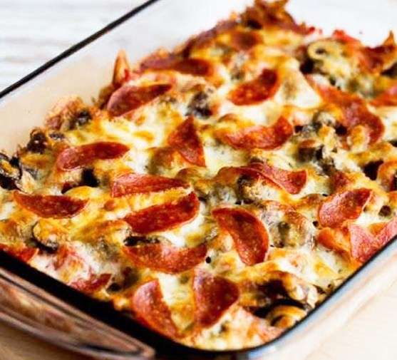 Low Carb Deconstructed Pizza Casserole