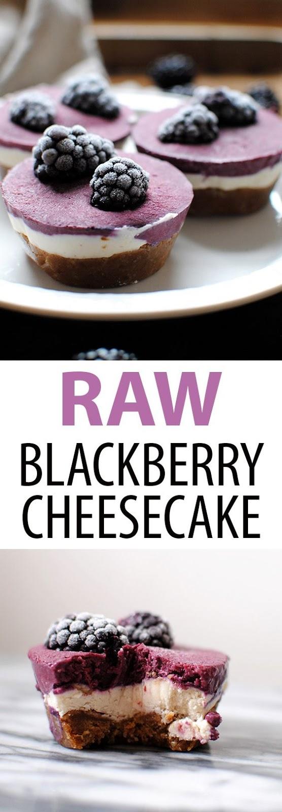 Raw Blackberry Cheesecakes