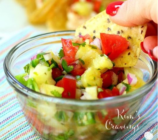 Super Simple Shrimp Tacos with Pineapple Salsa