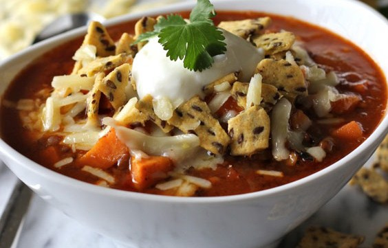 Sweet Potato and Lentil Chili (Vegan)