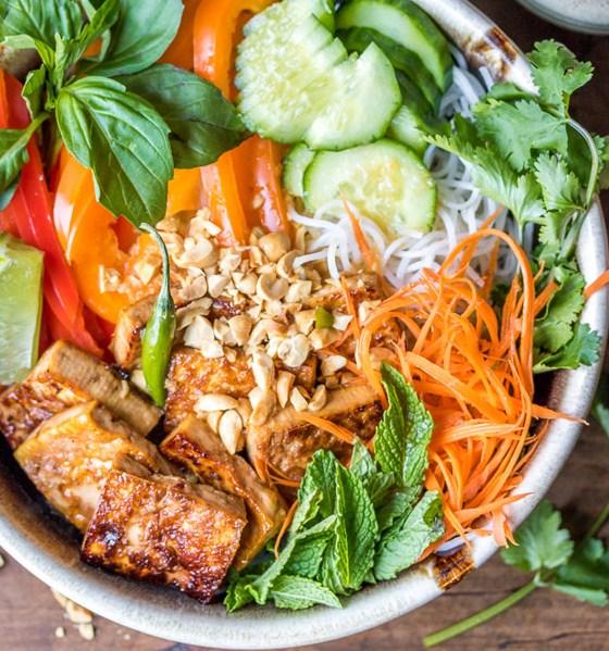 Vegan Bún Chay Noodle Salad