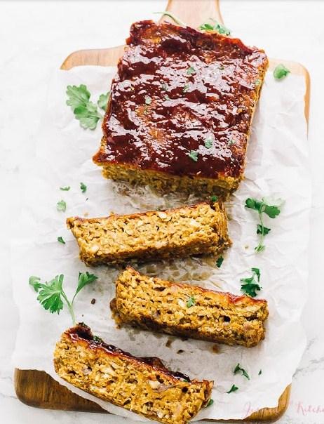 Vegan Meatloaf (Chickpeas & Lentils) Gluten Free