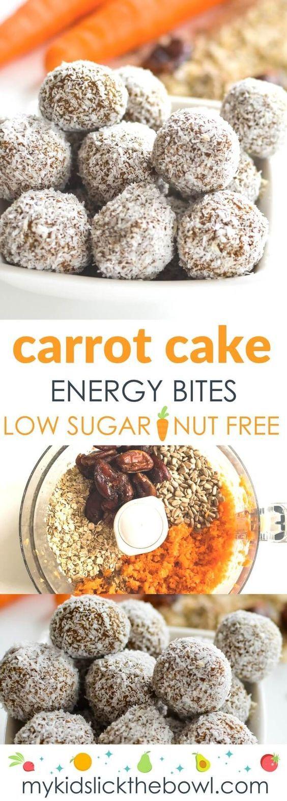 Carrot Oat Energy Bites