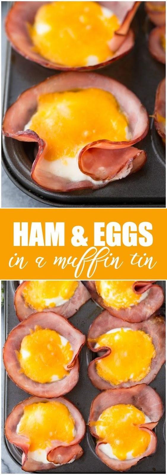 Ham & Eggs in a Muffin Tin