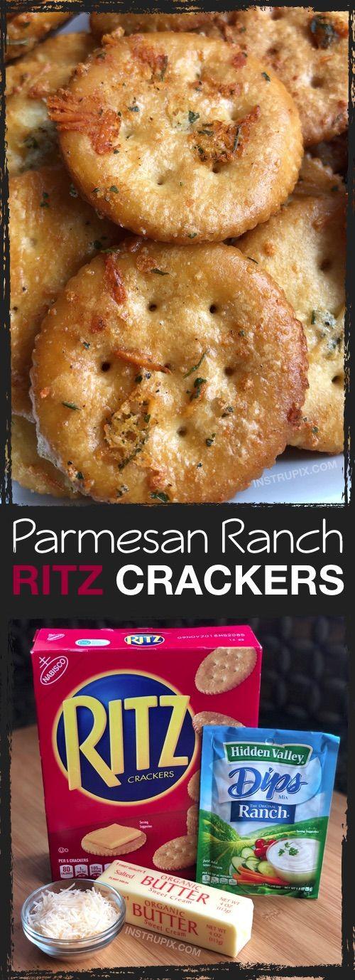 Zesty Baked Ritz Crackers
