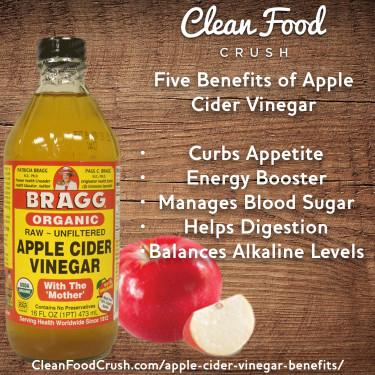 Apple Cider Vinegar Benefits  Five Benefits of Apple Cider Vinegar