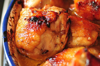 Baked Chicken Thighs  Honey Soy Baked Chicken Thighs Recipe