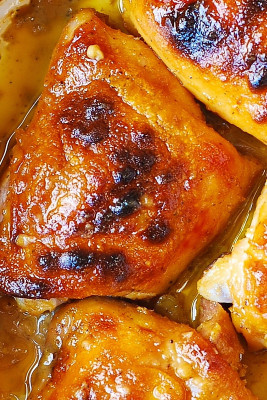 Baked Chicken Thighs Beautiful Best Baked Chicken Thighs with Maple Dijon Sauce Julia S